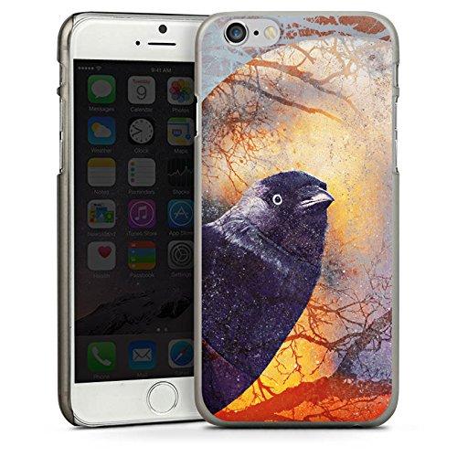 Apple iPhone 6 Housse Étui Silicone Coque Protection Corbeau Corbeau Oiseau CasDur anthracite clair
