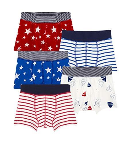 Petit Bateau Jungen Boxershorts 5 Culottes, 5er Pack, Mehrfarbig (Variante 1 00), 98 (Herstellergröße: 3ans/95cm)