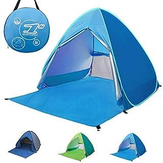 Tragbare Pop-Up-Zelt 2–3Personen Automatische Instant-Zelt, wasserdicht, anti-uv Sun Shelter Lampenschirm, den Strand, Camping-Zelt für Outdoor-Aktivitäten, blau