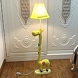 Stehlampe Cartoon Kinder Schlafzimmer Tiere Kreative Stoffe Wohnzimmer Studie Vertikale Tischlampen Nacht Leselernen Lichter Wohnzimmer (Farbe : Gelb)