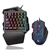 FOONEE One Handed Keyboard with Mouse, 35 Keys Mechanical Gaming Keyboard with Gaming