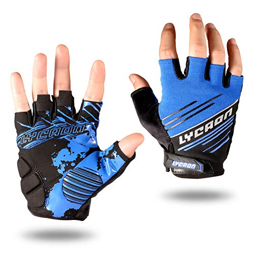 LYCAON Cycling Gloves Silicone G...