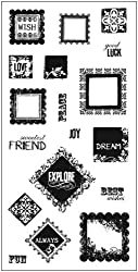 Fiskars 01-004658 4-Inch-by-8-Inch Coordinating Squeeze Punch Stamps, Squarely Sentimental