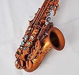Fidgetgear top caffè opaco sassofono soprano in Sib sax abalone chiave inciso Bell New