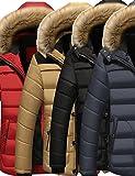 Search : Menschwear Men's Faux Fur Removable Hooded Puffer Down Jacket Parka Coat Fleece Lined Warm Thicken Outerwear XS-3XL