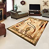 "Rug ROYAL Cream Modern Design Best Price High Quality Living Room S - XXL Nuance Pattern 110 x 265 cm (3ft8"" x 8ft9"") 110 x 195 cm (3ft8"" x 6ft5"")"