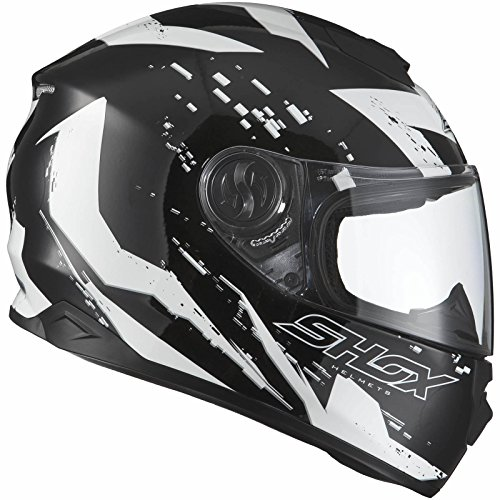 Shox Assault Trigger Motorrad Roller Helm L Schwarz/Weiß - 7
