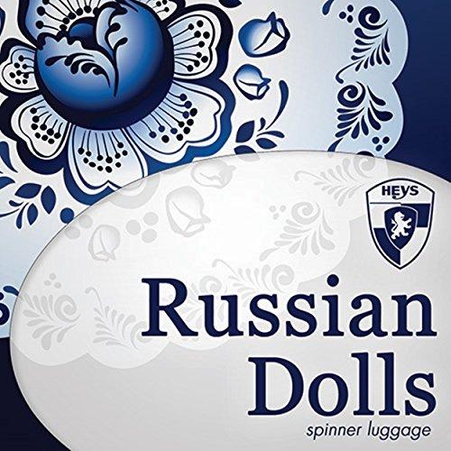 ... 50% SALE ... PREMIUM DESIGNER Hartschalen Koffer - Heys Core XCase Spinner Taupe Trolley mit 4 Rollen Medium Russian Dolls 5