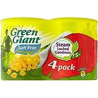 Green Giant Naturalmente Dulce Maíz Dulce Sin Sal Añadida (4X198g) (Paquete de 6)