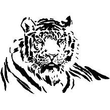 Winhappyhome Etiquetas Engomadas Del Arte De La Pared Del Tigre Para Las Etiquetas Desprendibles De La DecoracióN De La CafeteríA De La Sala Del Dormitorio