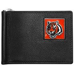 NFL Cincinnati Bengals Leather Bill Clip Wallet