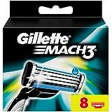 Gillette Mach3 Rasierklingen, 8Stück, briefkastenfähige Verpackung