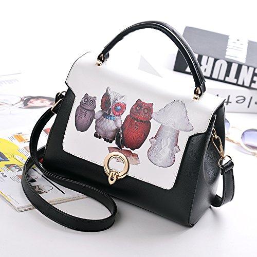Pacchetto LiZhen donna nuova marea selvaggio coreano ha bisogno di una semplice sacchetto individuale alla moda piccolo pacchetto, fare clic su borsa a tracolla, spell-gufo La funzione di controllo ortografico di gufo di colore
