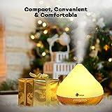 TaoTronics Aroma Diffuser 300ml Luftbefeuchter Oil Düfte Humidifier Holzmaserung LED mit 7 Farben für Yoga Salon Spa Wohn-, Schlaf-, Bade- oder Kinderzimmer Hotel - 2