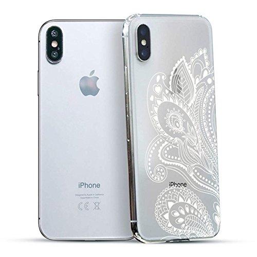 finoo | Iphone X Hard Case Handy-Hülle mit Motiv | dünne stoßfeste Schutz-Cover Tasche in Premium Qualität | Premium Case für Dein Smartphone| Fuck You Herz Blume Henna 2
