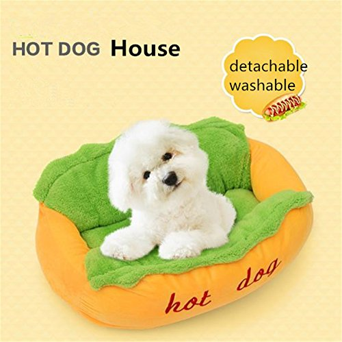 Uni Best Hot Dog Pet Dog Bed House Cat Soft Mattress Cushion Mat Funny Creative Detachable Washable Kennel