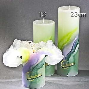 Lotuskerze Art Green 23 cm