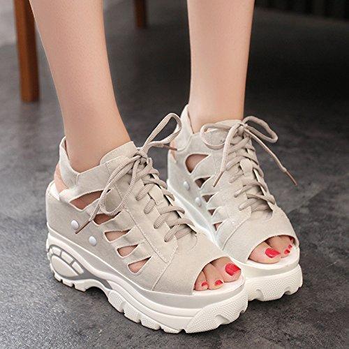 Sapatos Verão Moda Novo Atividades 2017 Sandálias 8 Saltos Zormey Lazer Cunhas Fujin Grossos Platô Mulher Marca De Corte Mulheres 6avRx8