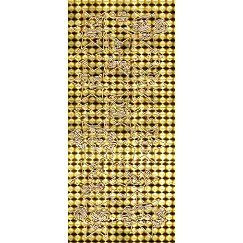 Paquete de sobres con offs craft dorado, diseño de estrellas de Navidad, diseño navideño. Retira el pegatinas para manualidades, etc para crear