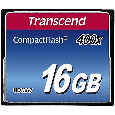 Transcend TS16GCF400 - Tarjeta de memoria Compact Flash de 16 GB