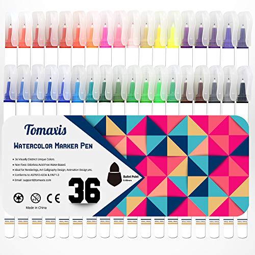 Bullet Journal Malstifte Bullet Point Art Marker Fineliner Stifte Set von 36 Farben für DIY Handwerk Schreiben Schreiben Schreiben Tagebuch Malerei Kalligraphie Stifte