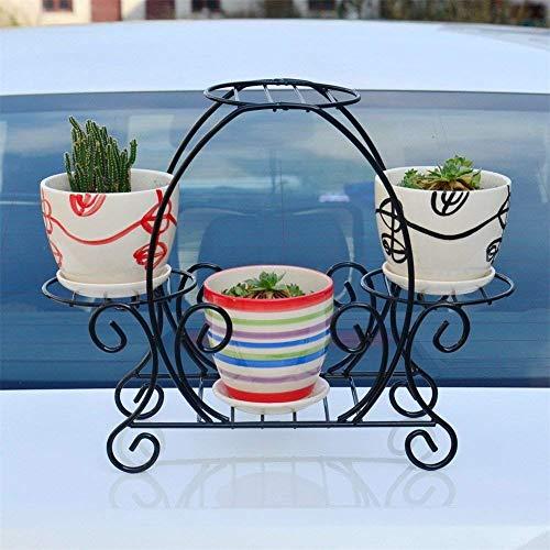 Meubles de Salon Modernes Noir créatif Mini Iron Art Racks de Fleurs/Stand Bureau Balcon Bureau Plant Display Flower Pot Présentoir