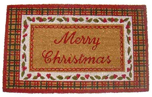 Clayre & Eef SCMC Sparkling Christmas Türmatte Merry Christmas Ca. 75 x 45 x 1 cm