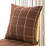 Home Sofa Car Decoration Ornament Hold Throw Pillow Cushion Christmas Valentine Gift Nordic Plaid sofa cushion pillow bed pillows,50x50cm,Red