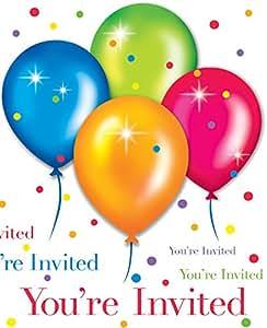 Makako - 8 cartes invitations anniversaire Ballon