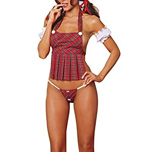Dream Garden Women Lingerie Lady Lace Suit Erotic Maid Costume Uniform Underwear G-string Sleepwear