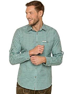Trachtenhemd Langarm Comfort Fit CAMPOS3 Dunkelgrün