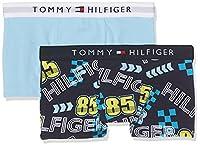 Tommy Hilfiger Boy's 2p Trunk Print Pants, Blue (Navy Blazer Motor Logo/Blue Bell), 146 (Manufacturer Size: 10-12)
