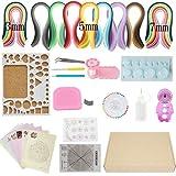 Quilling Paper Kit 23pcs / set 45 couleurs 1220 bandes (largeur de papier 3/5/7 mm) bricolage Design outil de dessin artisanal