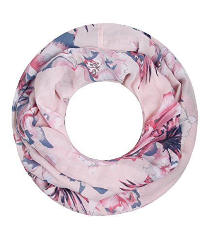 Majea NEU Damen Loop Schal viele Farben tolle Muster Schlauchschal Halstücher XXL (puder 2)