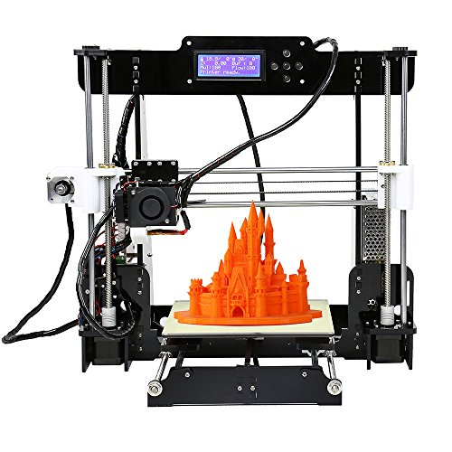 KKmoon Alta Precision Desktop Stampanti 3D Corredi Bricolage Assemblea MK8 Ugello Acrilico Frame Schermo LCD con 8GB SD Card Stampa Dimensione 220 * 220 * 240 mm Supporto ABS/PLA/HIP/PP/legno Filament