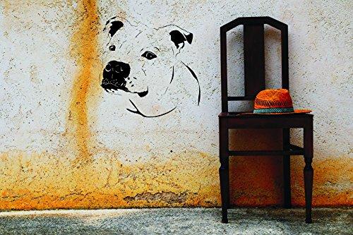 KFZ Aufkleber - 'Staffordshire Bullterrier' Hunde, Dogs// Autoaufkleber Farben- und Größenwahl (Weiß - 450 mm x 450 mm)