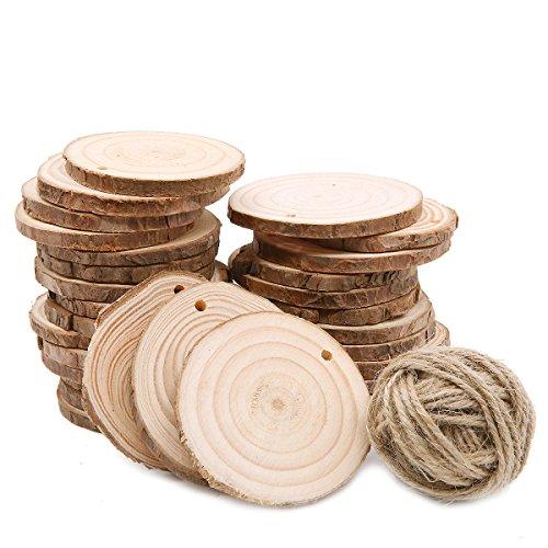 30 piezas de 6 – 7 cm de rodajas de madera