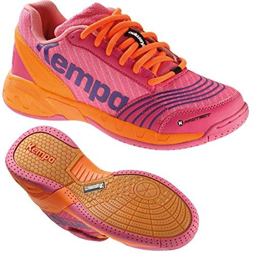 Kempa Handballschuhe Turnschuhe für Kinder rosa/carrot + Kempa Socken (37)