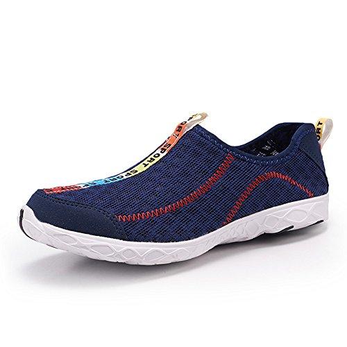 XIANV super coole bequeme Männer beiläufige Schuhe Breathable Ineinander greifen Schuhe Super helle Schuh Mann Marken Schuhe Marineblau