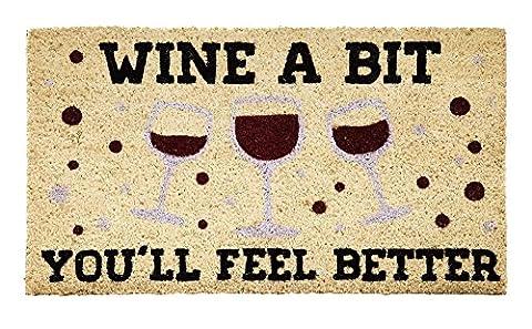 Coir Mat, Wine A Bit