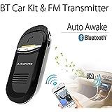 Avantree Joytune AUTO On Off In-car Bluetooth FM Transmitter Kit, Wireless Visor Handsfree Speakerphone with Mic, Talk & Music Stream to Car Stereo