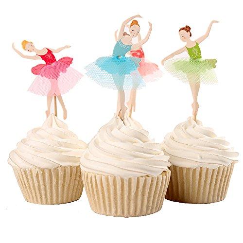 hendekoration Cupcake Toppers Geburtstagskuchen Deko (Ballett Mädchen) (Cupcake Für Mädchen)