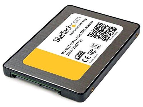 StarTech.com Adaptateur SSD M.2 NGFF vers SATA III de 2,5 pouces - Convertisseur de lecteur à état solide avec boîtier de protection