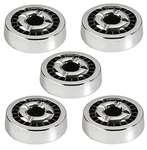 öter Silber Rund 14cm | Mit 21 Ablagestellen | Spülmaschinenfest | für Drinnen und Draußen ()