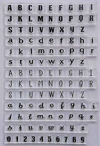 Stempel Set Clear Stamp transparent in verschiedenen Motiven (Buchstaben)