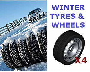 Set of 4 Genuine Ford S-Max & Galaxy 06 On Steel Wheels fitted with Winter Tyres