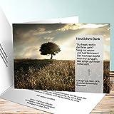 Trauer Danksagung Karten, Lichtstrahl 10 Karten, Horizontale Klappkarte 148x105 inkl. weiße Umschläge, Grau