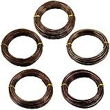 Generic Fil Bonsai Lot de 5 rouleaux-Dimensions de branche aluminium de façonnage de fleurs