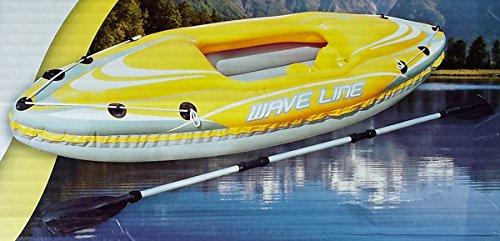BESTWAY Kajak Wave Kanu Schlauchboot Ruderboot Paddel Boot mit Ruder 280x75cm -