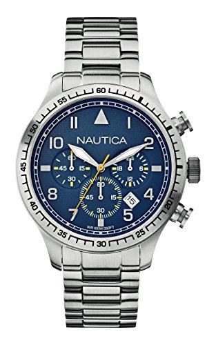 Nautica A18713G - Orologio da polso uomo, acciaio inox, colore: argento